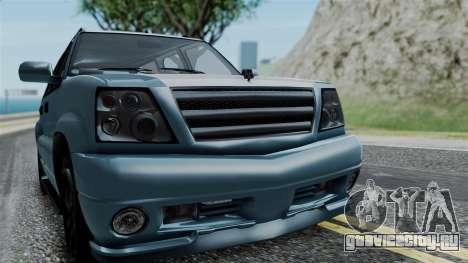GTA 5 Albany Cavalcade v1 IVF для GTA San Andreas вид изнутри