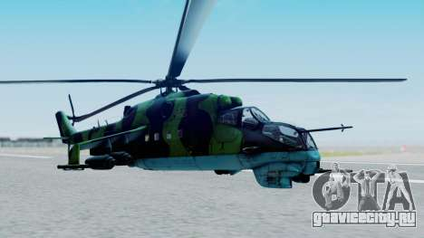 Mi-24V Afghan Air Force 112 для GTA San Andreas