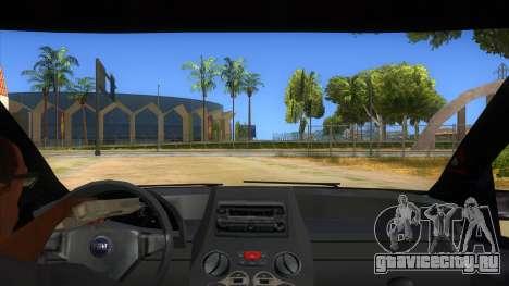 Fiat Panda V3 для GTA San Andreas вид изнутри