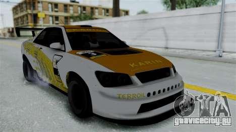 GTA 5 Karin Sultan RS Drift Big Spoiler PJ для GTA San Andreas салон