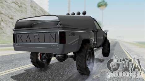 GTA 5 Karin Rebel 4x4 IVF для GTA San Andreas вид слева
