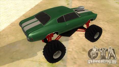 1970 Chevrolet Chevelle SS Monster Truck для GTA San Andreas вид справа