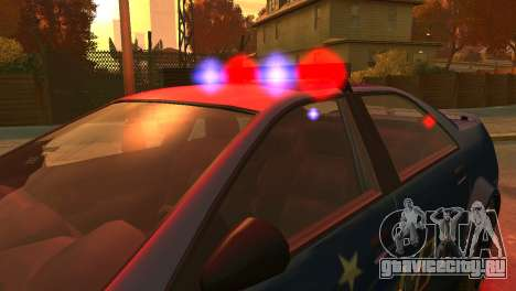 Albany Police Stinger для GTA 4 вид изнутри