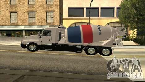 Kenworth T600 Цементовоз для GTA San Andreas вид сзади слева