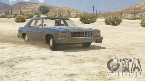 1987 Ford LTD Crown Victoria для GTA 5 вид сзади