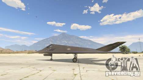 Lockheed F-117 Nighthawk Black 2.0 для GTA 5 второй скриншот