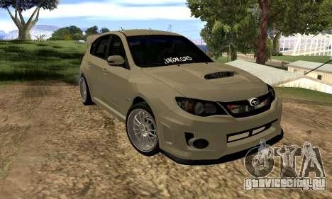 Subaru Impreza WRX STI 2008 LPcars v.1.0 для GTA San Andreas