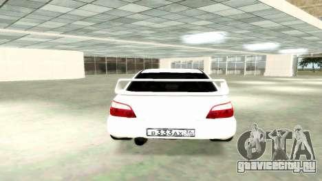 Subaru Impreza WRX STi Civil для GTA San Andreas вид сзади слева