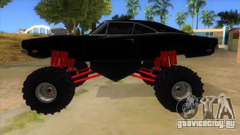 1969 Dodge Charger Monster Truck для GTA San Andreas вид слева