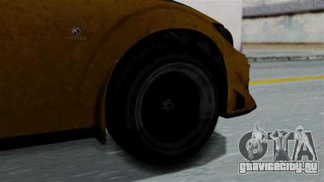 GTA 5 Karin Sultan RS Rally PJ для GTA San Andreas вид сзади слева