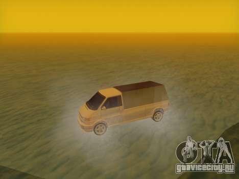 Volkswagen T4 Caravelle 35 Cup (1997) [Вездеход] для GTA San Andreas вид сзади слева