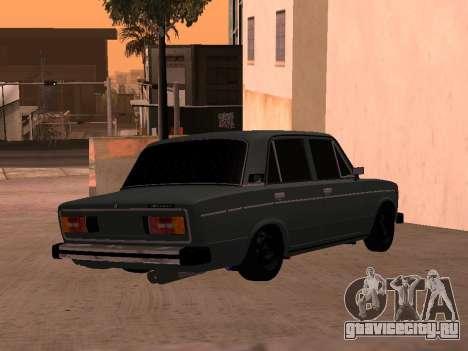 Ваз 2106 BPAN для GTA San Andreas вид сзади слева