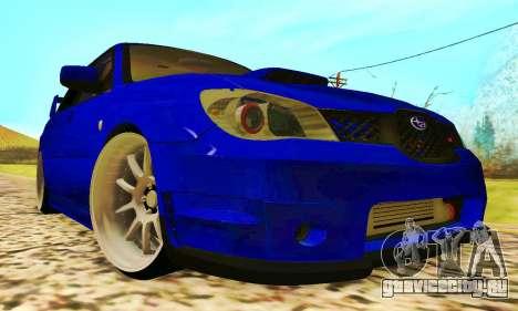 Subaru Impreza WRX STI Lisa для GTA San Andreas вид слева