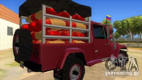 Jeep Pick Up Stylo Colombia для GTA San Andreas вид справа