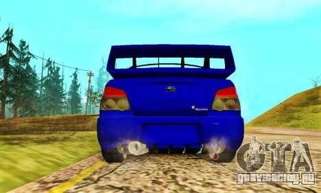 Subaru Impreza WRX STI Lisa для GTA San Andreas вид сзади