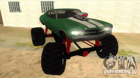 1970 Chevrolet Chevelle SS Monster Truck для GTA San Andreas вид сзади