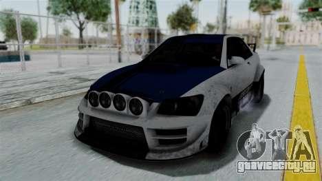 GTA 5 Karin Sultan RS Rally PJ для GTA San Andreas салон