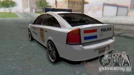 Opel Vectra 2005 Policia для GTA San Andreas вид слева