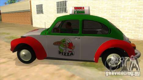 Volkswagen Beetle Pizza для GTA San Andreas вид слева