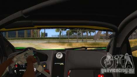 McLaren 650S GT3 Alien PJ для GTA San Andreas вид изнутри