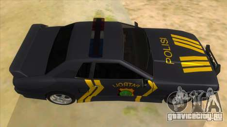 Elegy NR32 Police Edition Grey Patrol для GTA San Andreas вид изнутри