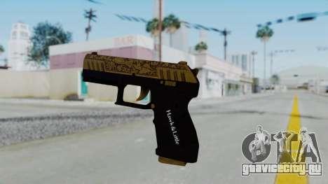 GTA 5 Online Lowriders DLC Combat Pistol для GTA San Andreas второй скриншот