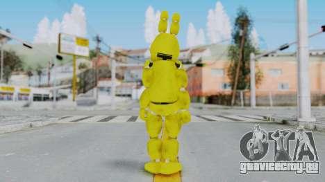 FNAF Spring Bonnie для GTA San Andreas третий скриншот