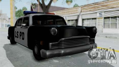Police Cabbie для GTA San Andreas вид сзади слева
