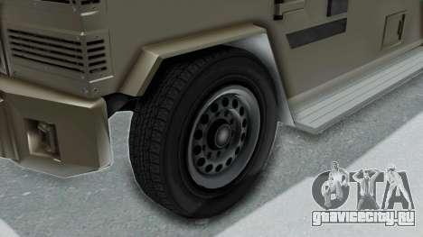 GTA 5 Brute Riot Police IVF для GTA San Andreas вид сзади слева