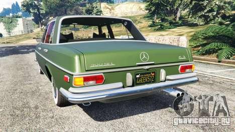 Mercedes-Benz 300SEL 6.3 1972 для GTA 5 вид сзади слева