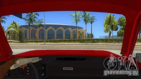 Zastava Poly 1.1 для GTA San Andreas вид изнутри