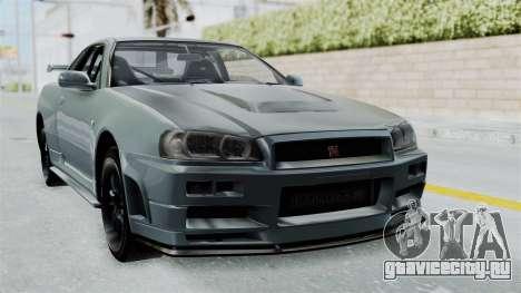 Nissan Skyline GT-R R34 2002 F&F4 для GTA San Andreas