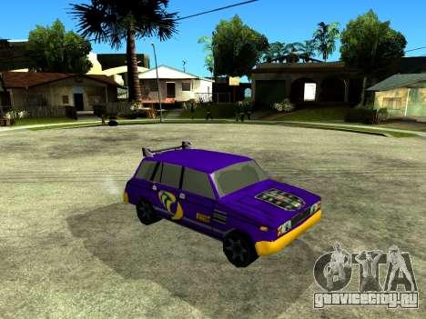 VAZ 2104 WRC для GTA San Andreas вид изнутри