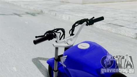 Honda CG Titan 2014 Stunt для GTA San Andreas вид сзади