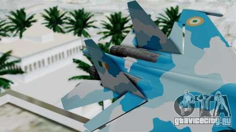 SU-37 Indian Air Force для GTA San Andreas вид сзади слева
