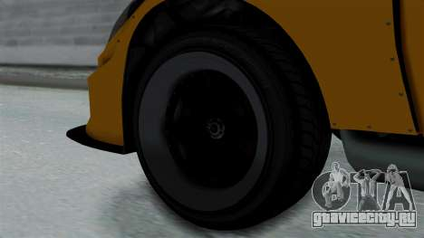 GTA 5 Karin Sultan RS Drift Big Spoiler PJ для GTA San Andreas вид сзади слева