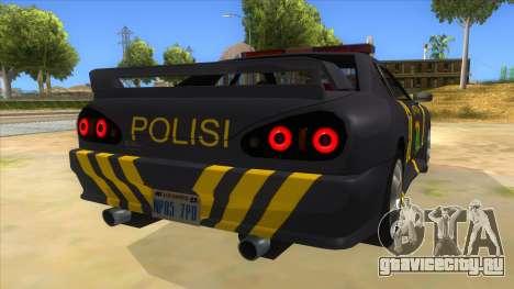 Elegy NR32 Police Edition Grey Patrol для GTA San Andreas вид справа