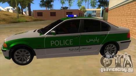 BMW Iranian Police для GTA San Andreas вид слева