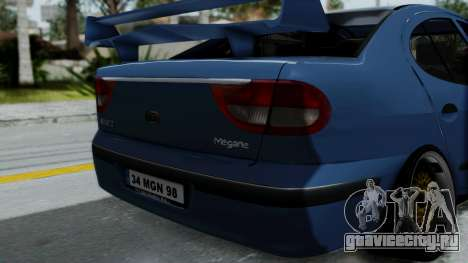 Renault Megane Stance для GTA San Andreas вид сзади