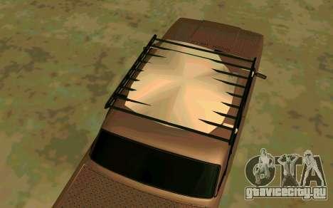 Ваз 2107 Зима для GTA San Andreas вид сзади слева