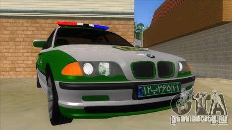 BMW Iranian Police для GTA San Andreas вид сзади
