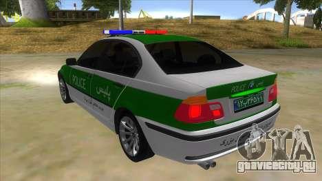 BMW Iranian Police для GTA San Andreas вид сзади слева
