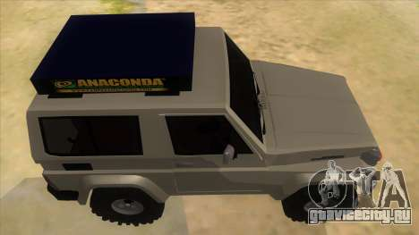 Toyota Machito 4X4 для GTA San Andreas вид изнутри