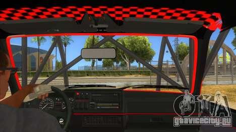 Volkswagen Golf MK2 RollGolf для GTA San Andreas вид изнутри