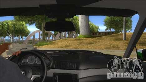 BMW Iranian Police для GTA San Andreas вид изнутри