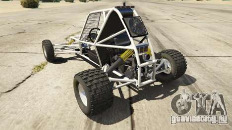 Kart Cross для GTA 5 вид сзади слева