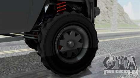 GTA 5 Karin Rebel 4x4 IVF для GTA San Andreas вид сзади слева
