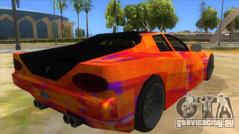 GTA 3 Cheetah ZTR для GTA San Andreas вид сзади