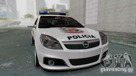 Opel Vectra 2005 Policia для GTA San Andreas вид справа