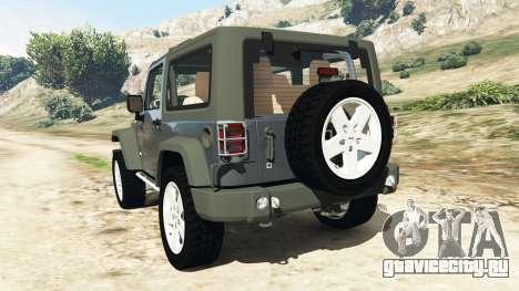 Jeep Wrangler 2012 v1.1 для GTA 5